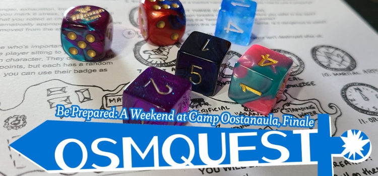 OSMquest! Be Prepared: A Weekend at Camp Oostanaula, Finale
